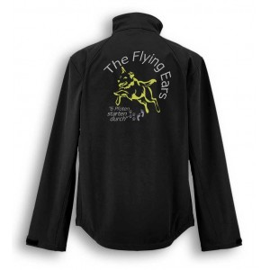 The Flying Ears - Softshell Jacke mit Stickerei