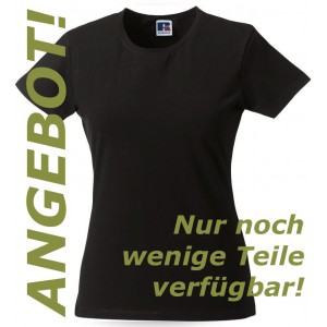 The Flying Ears - Damen Stretch T-Shirt mit Stickerei
