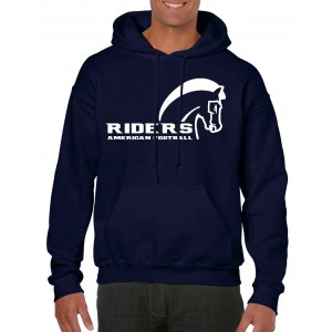 Schiefbahn Riders - Heavy Blend™ Hooded Sweat - Pferd Navy