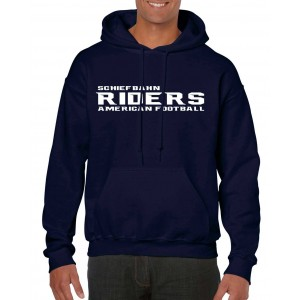 Schiefbahn Riders - Heavy Blend™ Hooded Sweat - Schrift Navy