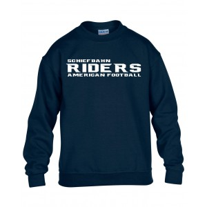 Schiefbahn Riders - Kids' Blend Crew Neck Sweat Schrift